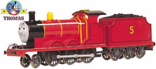 Toy Railway Scale Model HO Bachmann Thomas The Train Friends James Red Engine With Moving