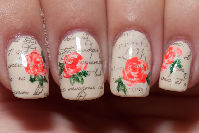 The Nail Junkie Jelly Shimmer Watermelon Zoya Jacqueline Darling Diva Polish Sashay Away Romantic Roses