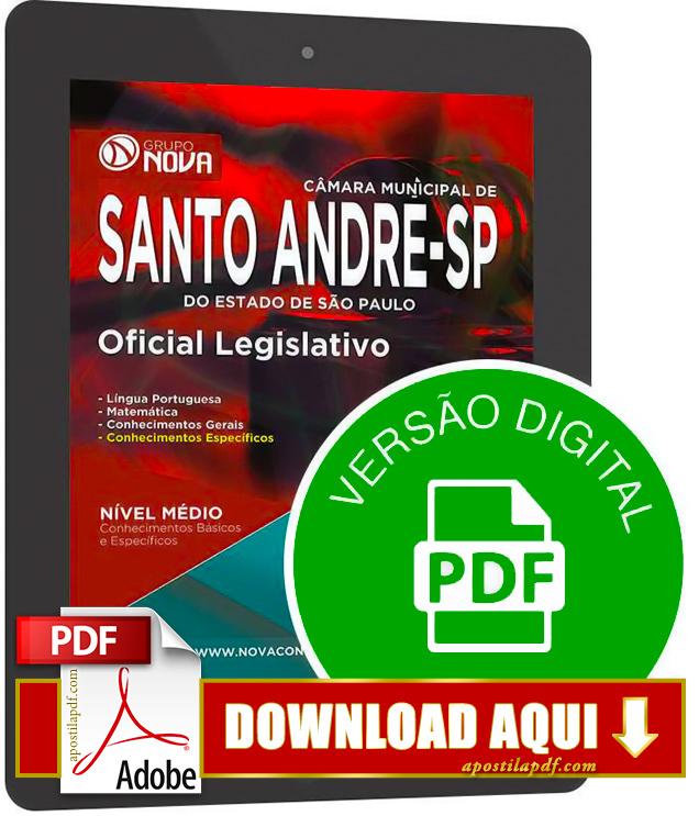 Apostila Câmara de Santo André 2015 PDF Download Oficial Legislativo