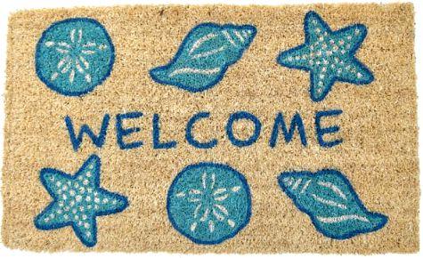 Coastal Nautical Beach Welcome Doormats
