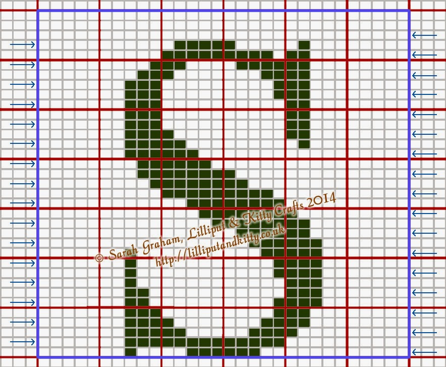 Knitting Letters Chart : Lilliput kitty crafts times new roman large capital