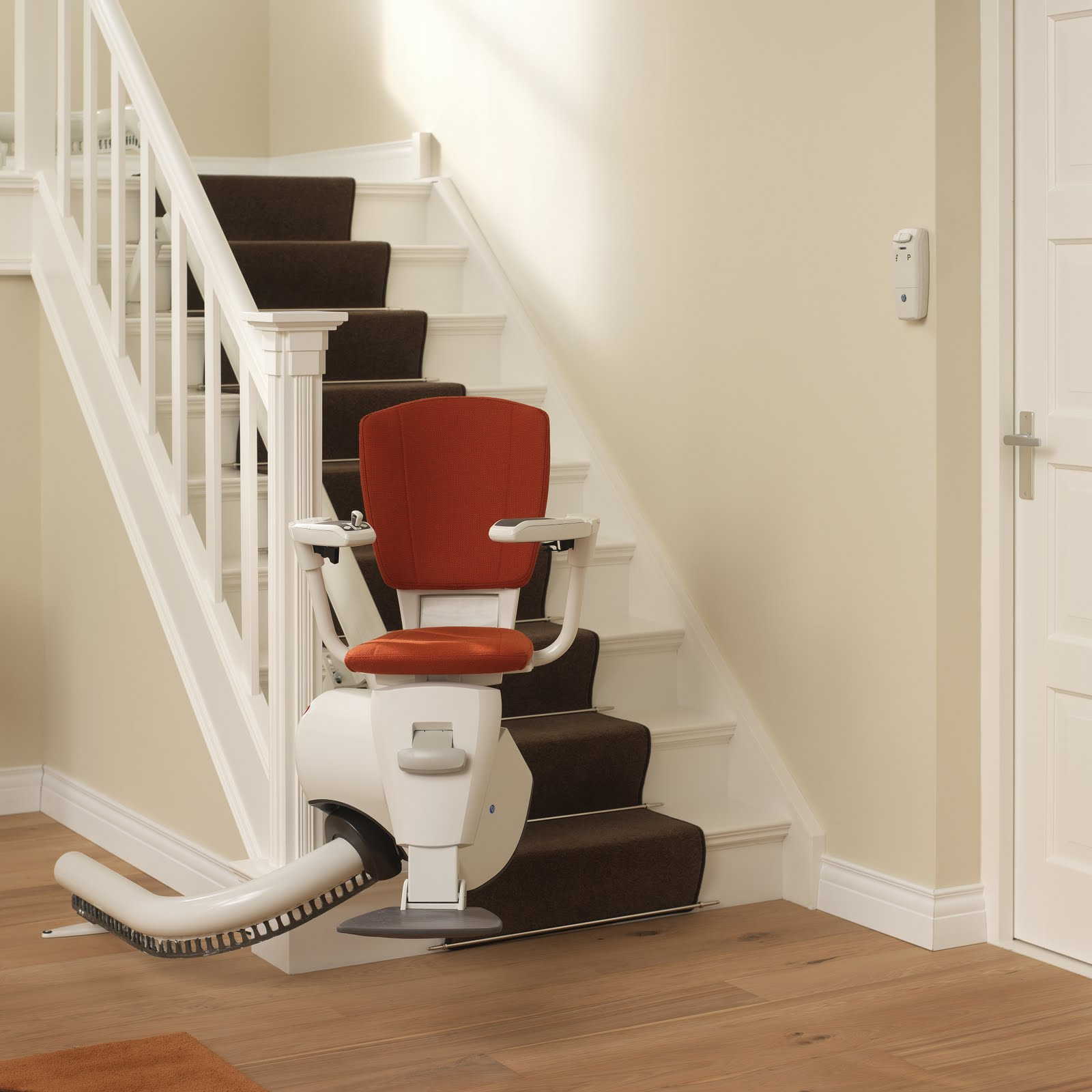 Flow 2 stairlift for curved and narrow staircases.