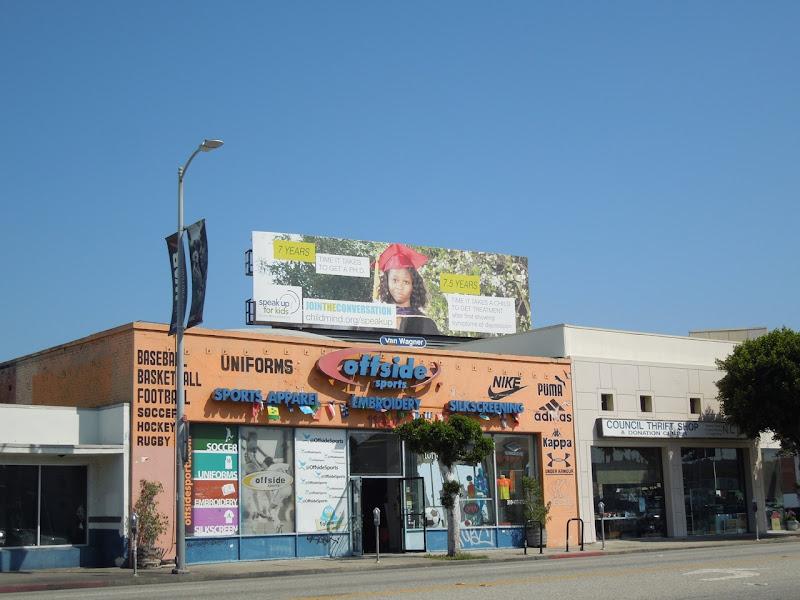Speak up for Kids PHD billboard
