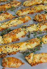 Havarti Cheese Puff Pastry Sticks (GF)
