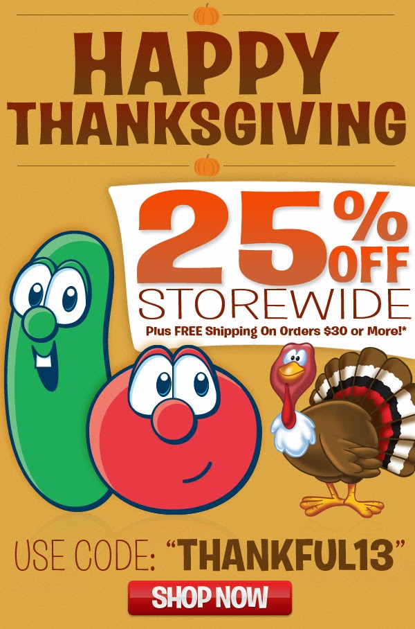 veggie tales thanksgiving sale alert