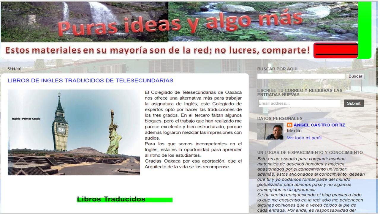 LIBROS DE INGLES TRADUCIDOS