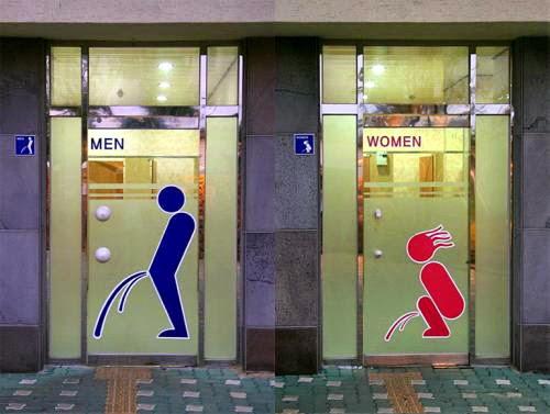 Los carteles más originales en baños públicos