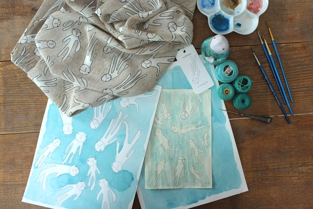 Pinar Yegin and Deniz Yegin Ikiizik / Rumisu handmade silk scarves / exclusive interview / fashioned by love
