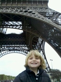 Jacob under the Eiffel Tower Paris