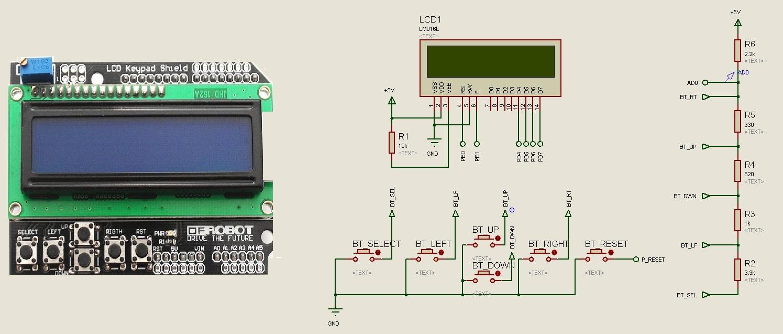 Клавиатура щит lcd1602 подключение