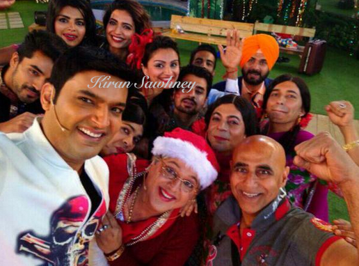 Selfie shot by Kapil at Big Boss house.