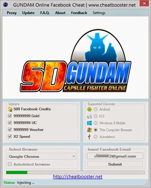 Gundam Online Cheats