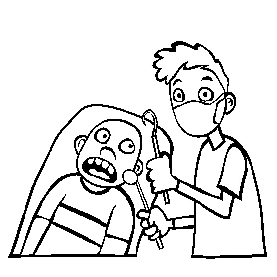 Dentist Coloring Page Perfect New Coloring Page Preschool Dental