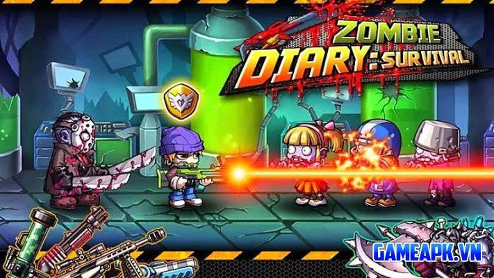 Zombie Diary v1.2.1 Mod (Unlimited Money & Unlocked) cho Android