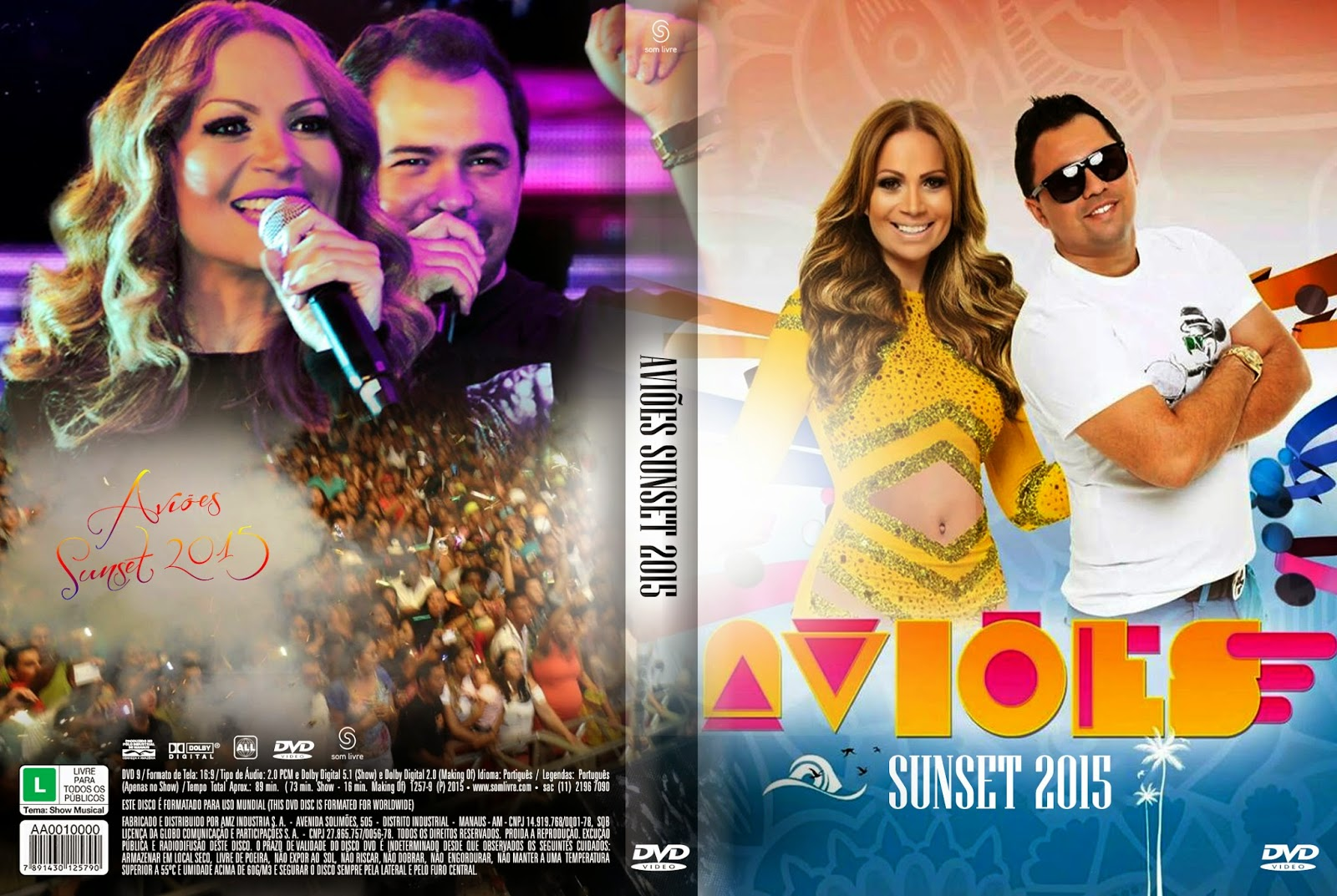 DVD Aviões Sunset 2015