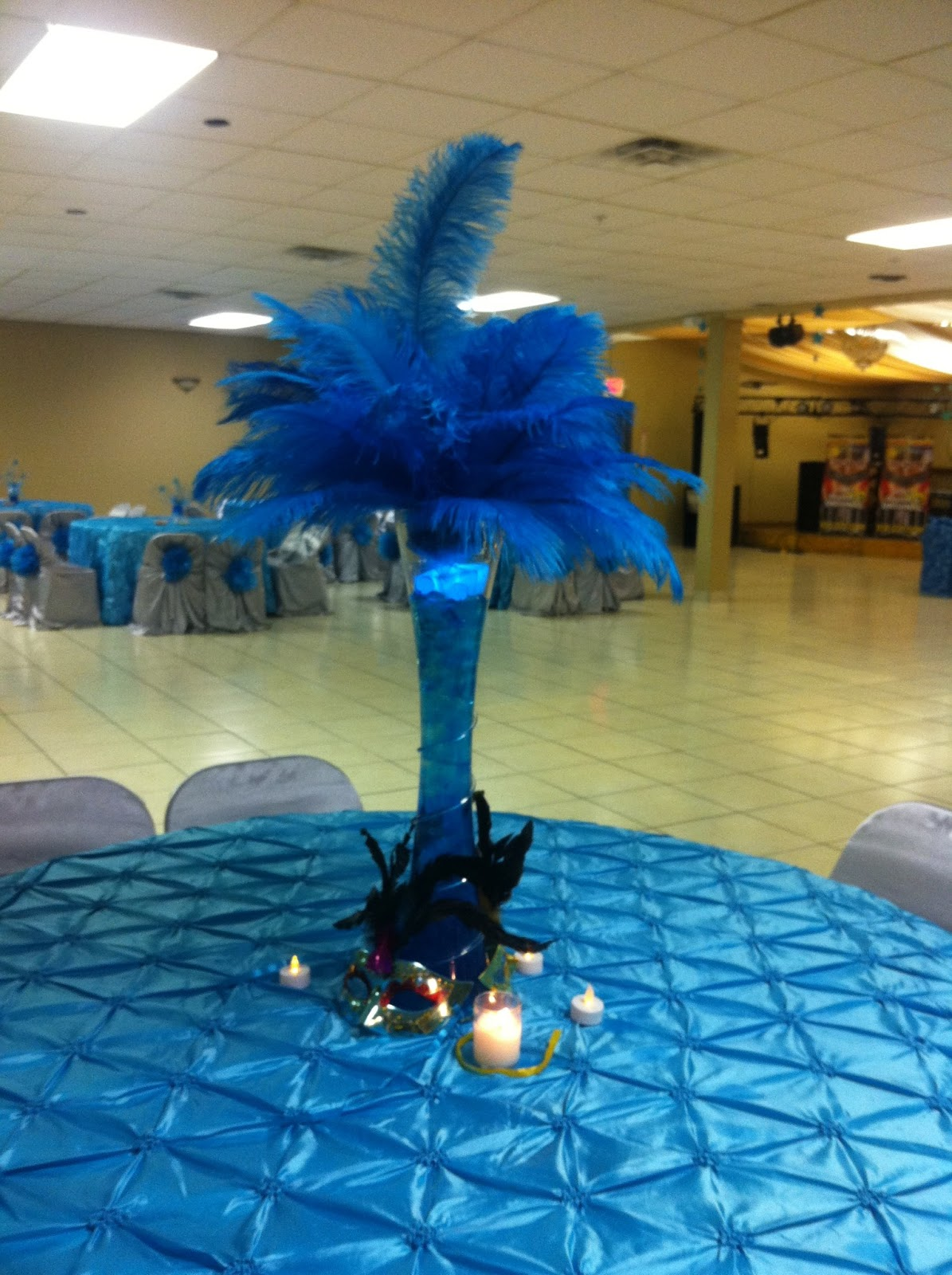 Rincon real hall decorations perfect centerpiece for a for Quinceanera decorations