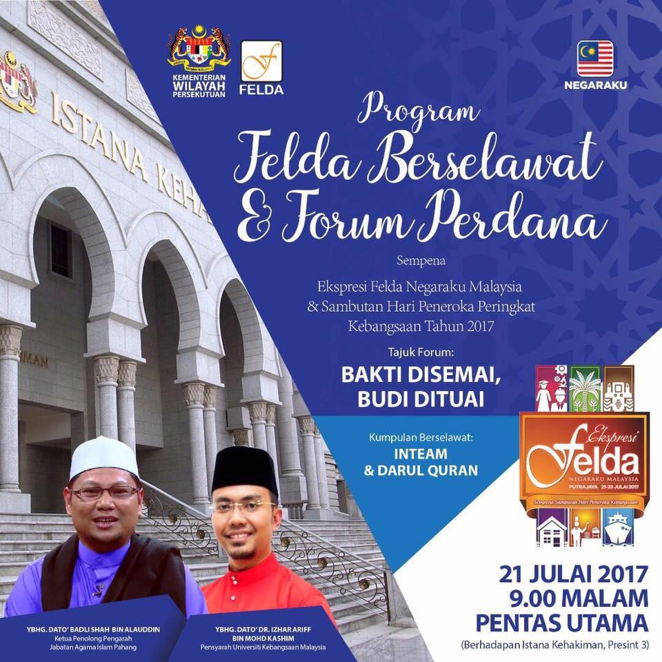 FELDA Berselawat Dan Forum Perdana