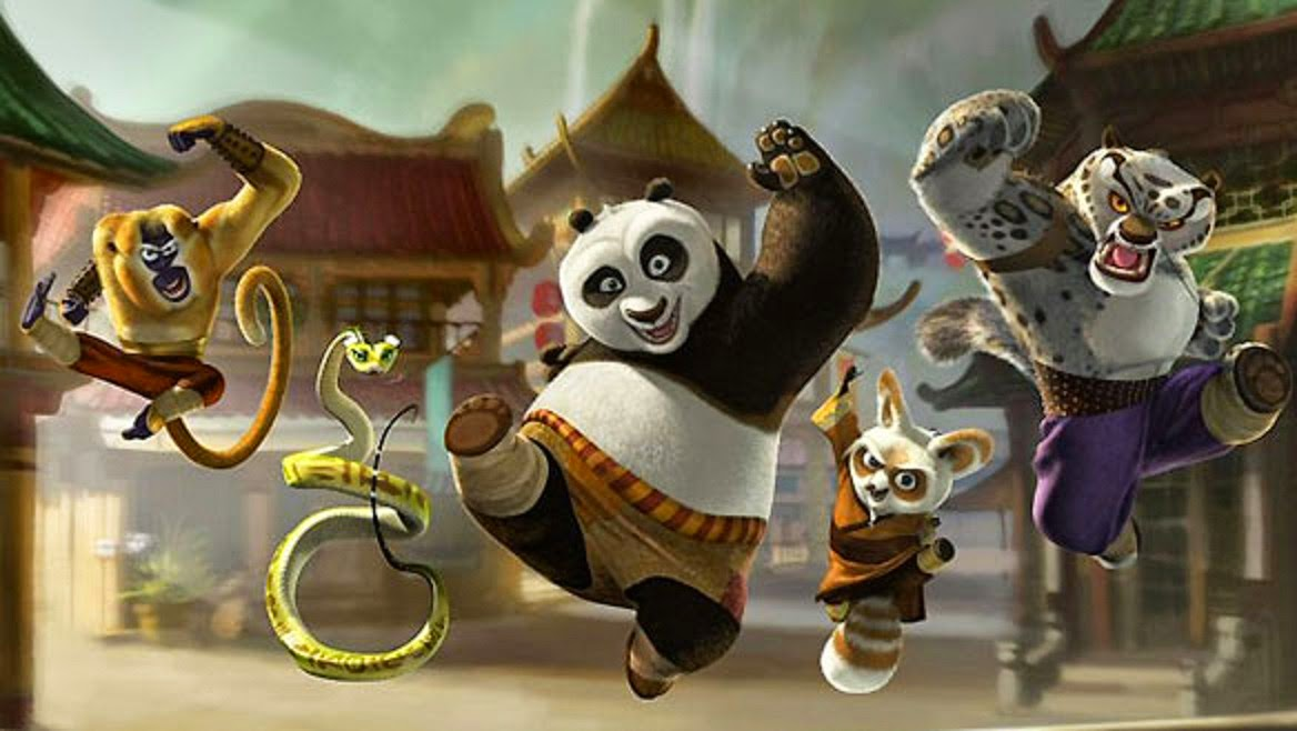 Kung Fu Panda Characters Cartoone Wallpaper