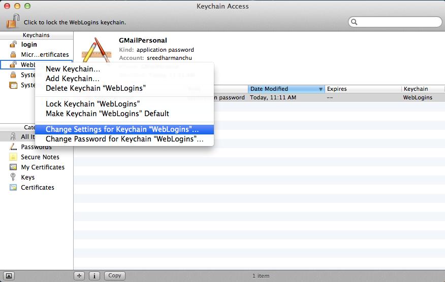 how to create a new keychain mac