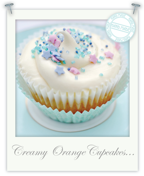 Gluten-free orange creamy cupcakes