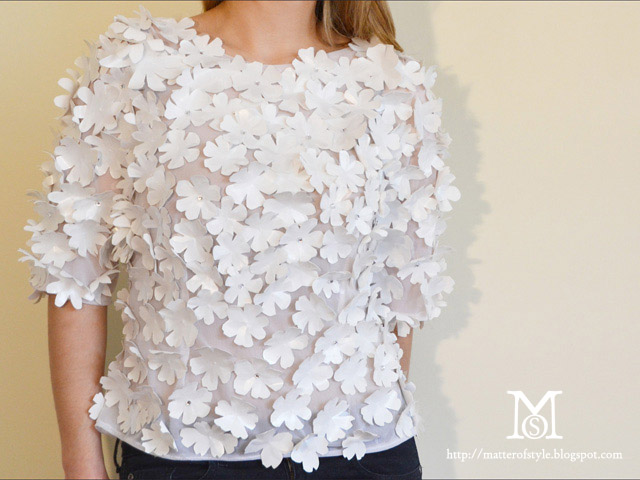 blumarine diy,diy,do it yourself,my diy,blumarine,spring summer 2012,style.it,cloth diy,top diy,fashion diy,origami,3d flowers,dolce gabbana,comme les garcons