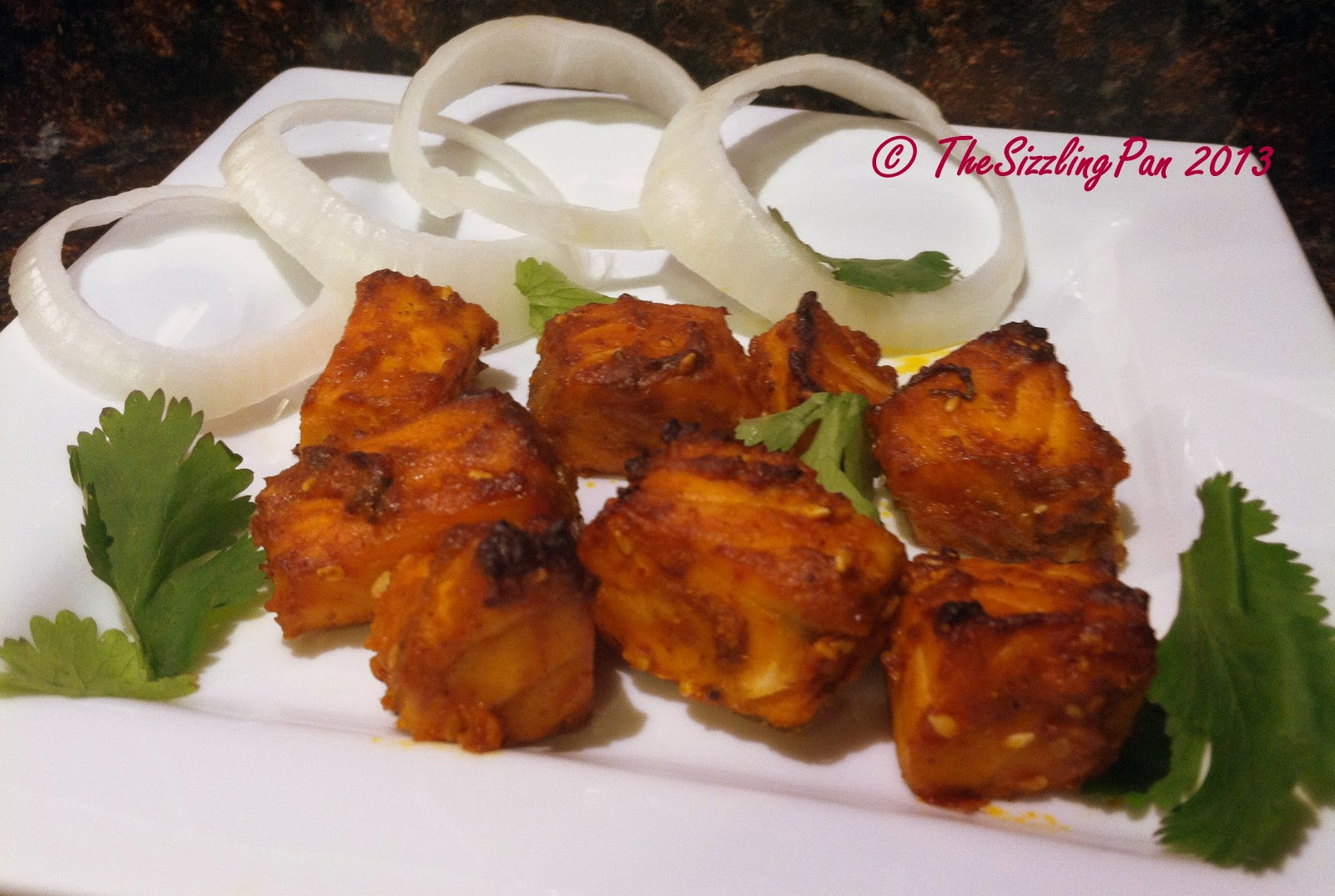 ... and it had to be Sizzling Hot..Spicy...Delicious ... Salmon Tikka