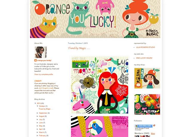 orange you lucky blog screenshot