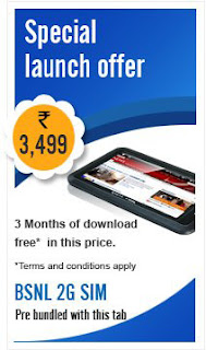 BSNL new Tablet Penta TPAD IS701R