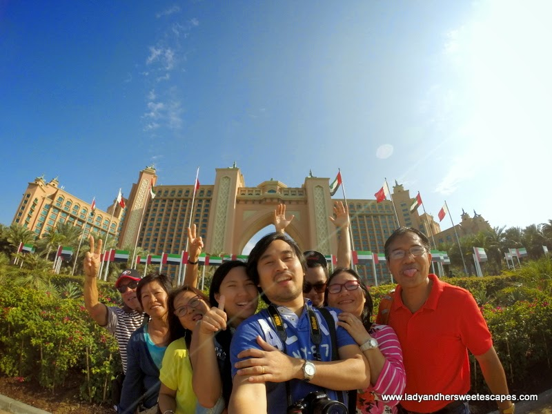 family in Atlantis the Palm