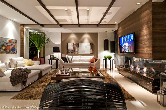 Pain is para tv veja modelos salas lindas decor for Sala de estar luxuosa