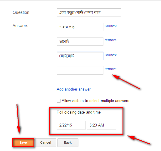 add poll widget blogger blog