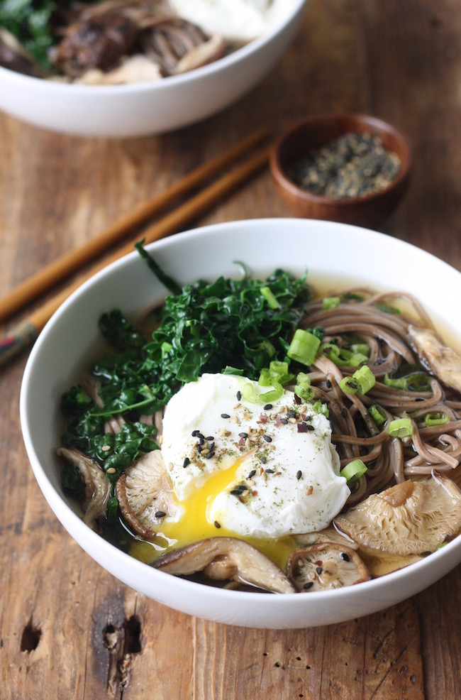 Soba Noodle Soup with Shiitake Mushrooms & Kale recipe by SeasonWithSpice.com