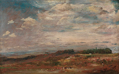 John Constable  - Hampstead heath with bathers,1821-22.