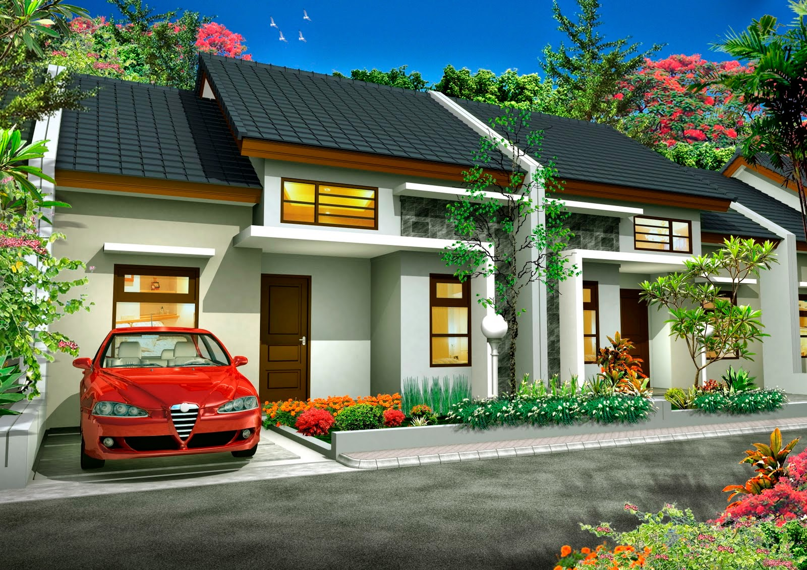 desain rumah modern type 90