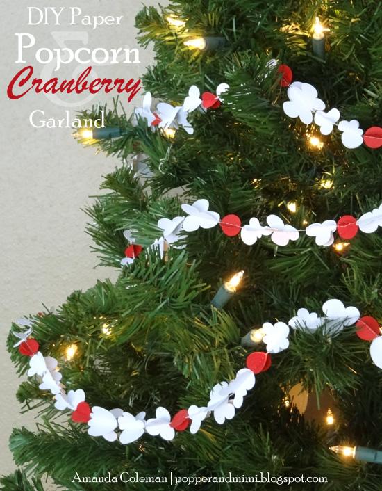 Paper Popcorn & Cranberry Garland | popperandmimi.com