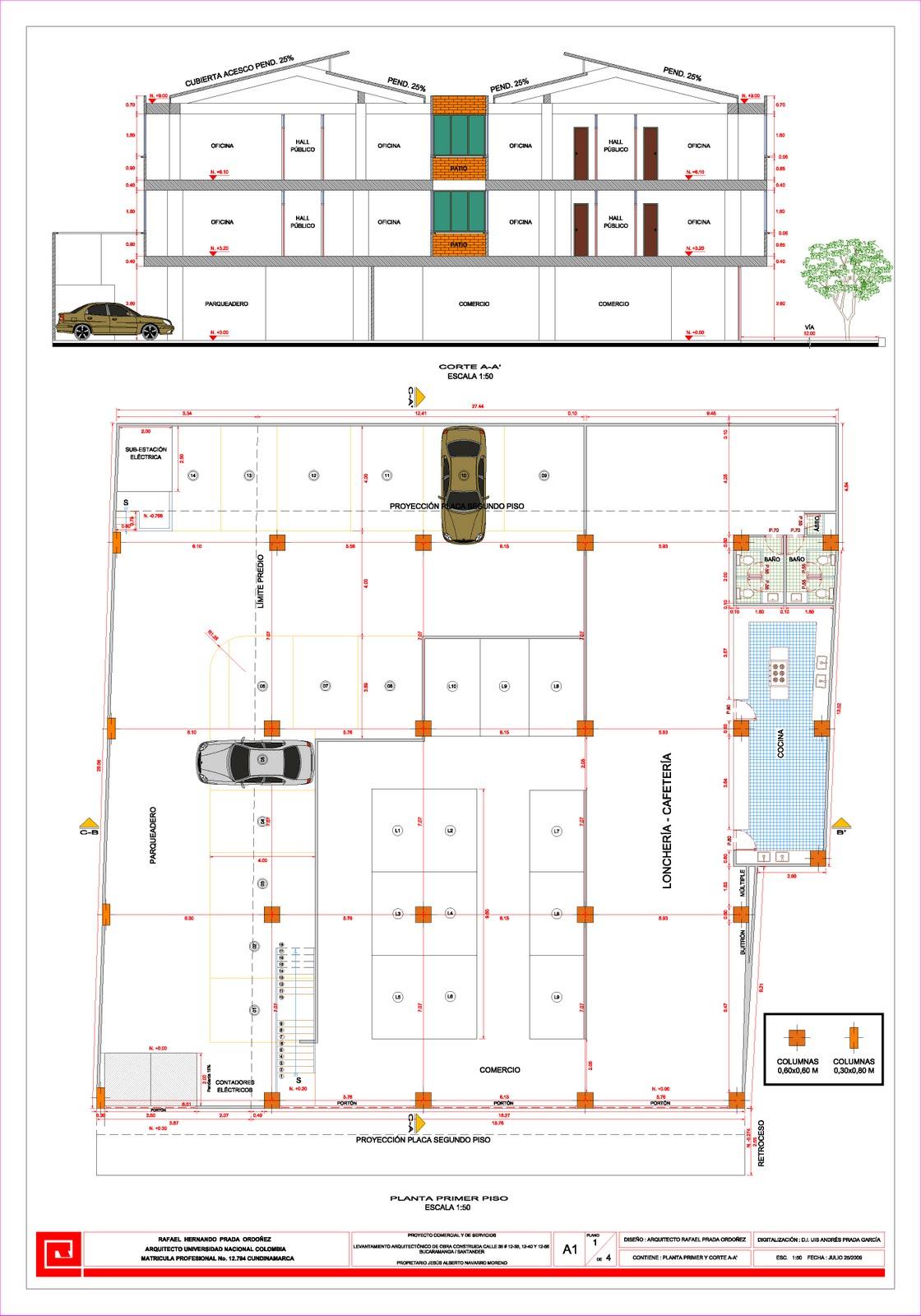 Planos arquitectonicos sena vistas for Simbologia de planos arquitectonicos pdf