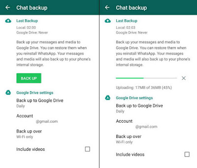 Backup Percakapan dan Mengembalikannya
