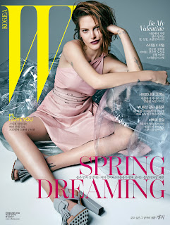Magazine Cover : Catherine McNeil Magazine Photoshoot Pics on Hong Soo Hyun W Magazine Korea January 2014 Issue