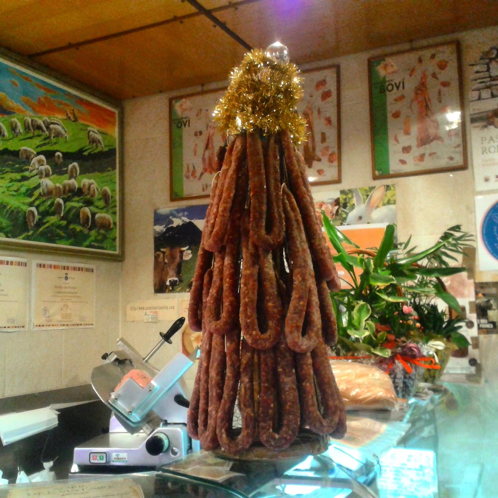 Arbre de Nadal amb xoriços  i secallones.