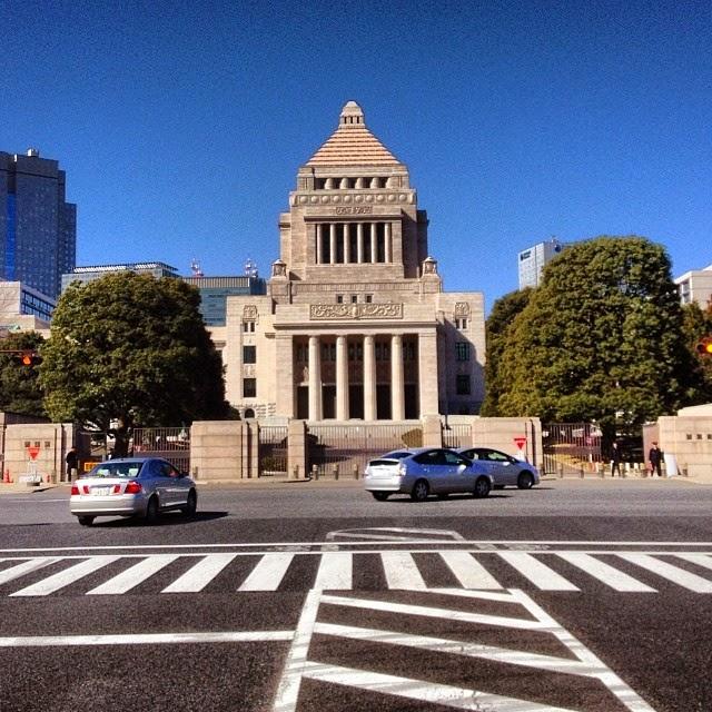 The National Diet Building, or Kokkaigijido, of Japan.