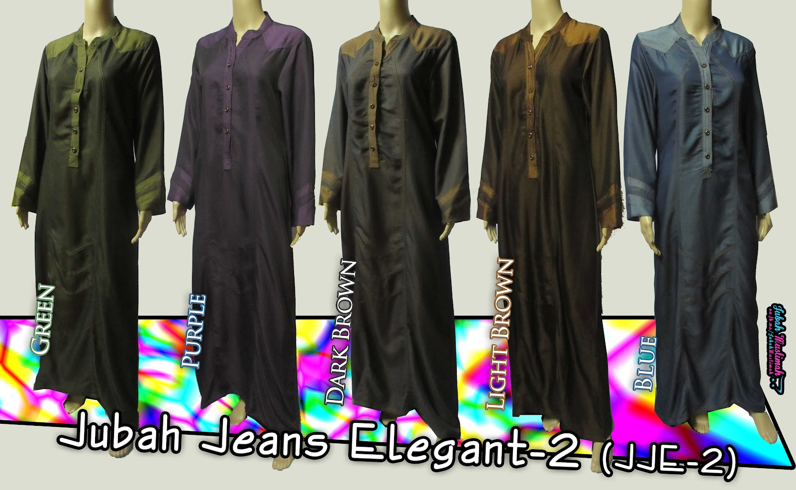 JJE-2] Jubah Jeans Elegant-2, Butang Boleh Buka ^_^