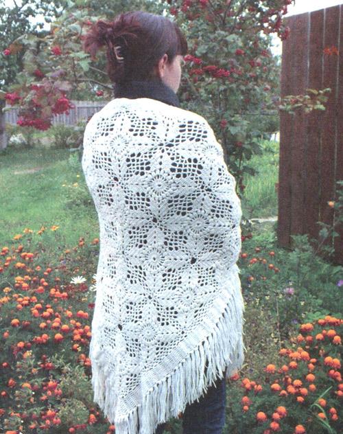 Вяжем кручком шаль. Shawl - Knit crochet