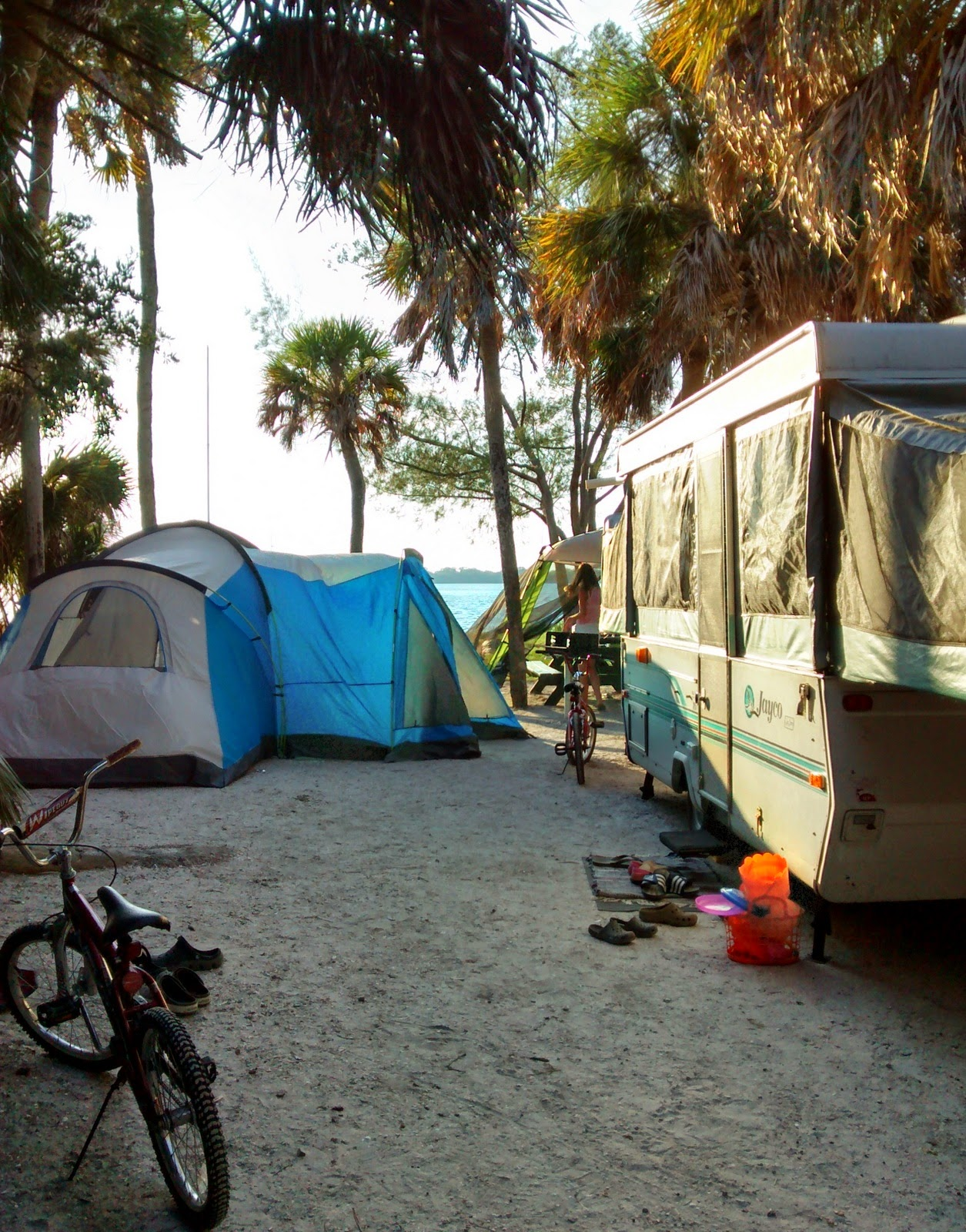 Because I'm Me campsite 19 at Fort DeSoto Park, St. Petersburg, FL
