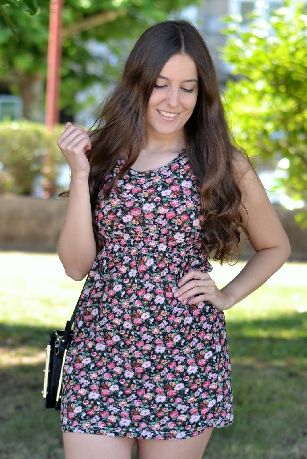 vestido flores cndirect