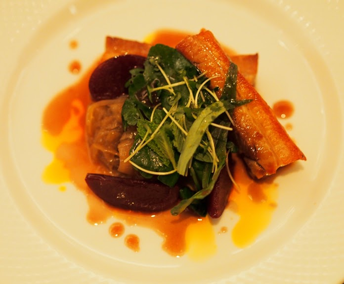 pork belly and pickled plums