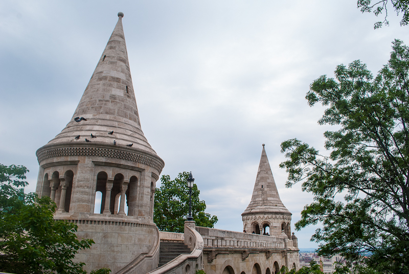The Fisherman's bastion architecture in budapest hungary