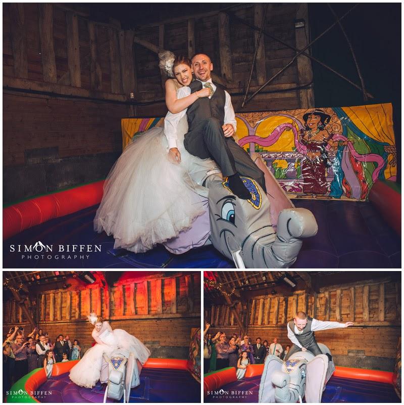 Wedding rodeo at Blackthorpe Barn