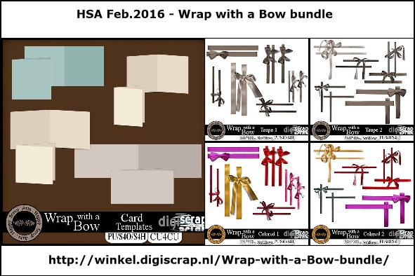 Feb.2016 HSA wrap with a bow/cards
