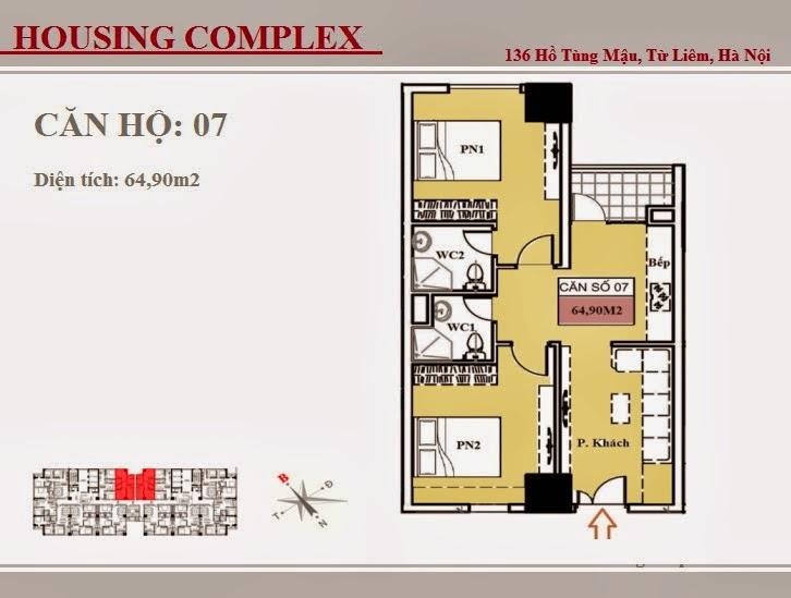 136 Hồ Tùng Mậu - Vinaconex 7 - Housing Complex - CH07