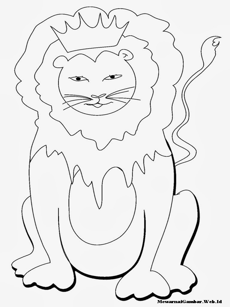 gambar mewarnai singa